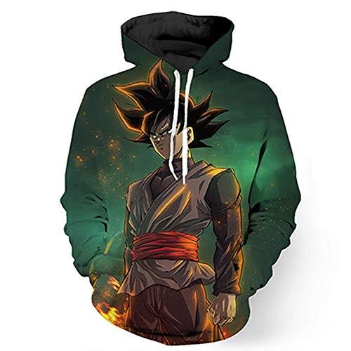 Hooded Sweatshirts Cute Cartoon Hoodies Pullover TopsPullover de Bolsillo con Capucha Estampado Anime-WE221_S
