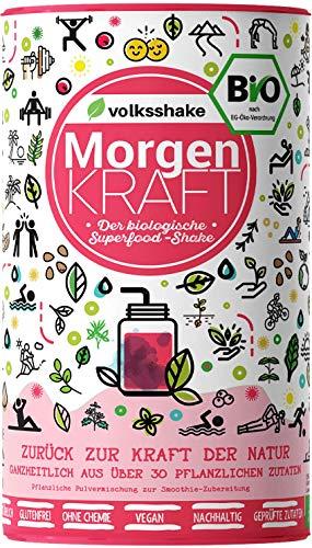 BIO MORGENKRAFT SMOOTHIE | DE-ÖKO-006 | 500g | biologische Wachmacher, kräftigende Wurzeln & Beeren | mit Maca, Kurkuma, Guarana, Gerstengras und natürlichem Koffein