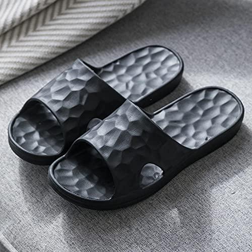 MDCGL Sandalias Suaves Zapatillas de baño para Hombre y Mujer, Sandalias de Pareja Antideslizantes para el hogar, para Interior, Exterior, baño, Piscina de jardín, Negro EU34-35