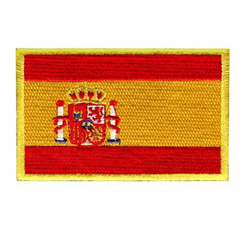 Parche Bandera España para Ropa Ejercito – 8 x 5 cm - Escudo Bordado Militar Táctico Colores Originales Chaqueta Mochila Crossfit Aplicaciones para Coser Emblema Nacional Apliques Costura