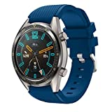 Angersi 22mm Soft Silicona Sport Correa Replacement Bands Compatible con Huawei Watch GT 46mm/Watch GT Active/Watch 2 Pro/Honor Watch Magic/Galaxy Watch 46mm/Gear S3