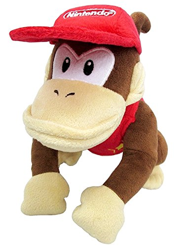 Little Buddy Super Mario All Star Collection 1587 Diddy Kong Stuffed Plush, 9',Multi-Colored