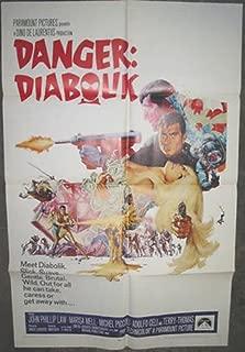DANGER DIABOLIK / ORIGINAL U.S. ONE-SHEET MOVIE POSTER (MARIO BAVA)