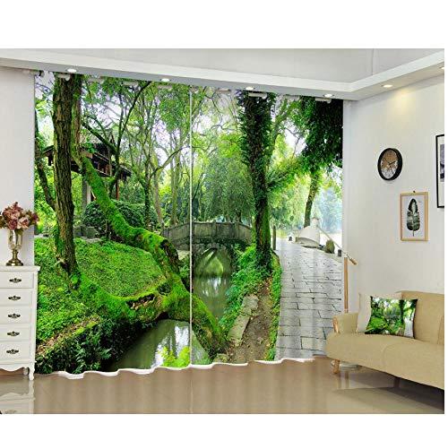 MUXIAND Mooie 3D-verduisteringsgordijnen, gepersonaliseerd voor woonkamer, bed, huis, raam, tapijt, gordijnen W168X183cm (66 * 72 inch)