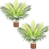 Fycooler Foglia di palma tropicale artificiale Piante verdi artificiali da 50 cm Pianta finta di fronde di palma tropicale Cespugli di palma falsi per la decorazione domestica Matrimoni