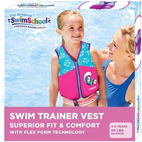 SwimSchool New Improved Swim Trainer Vest Flex Form Design Padded Shoulders and Adjustable Safety product image