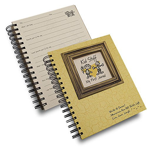 Kid Stuff, My First Journal - Color Hard Cover (prompts on every page, recycled paper, read more...)