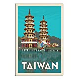 Vintage-Reise-Poster, Taiwan, Leinwand-Kunstdruck, modernes