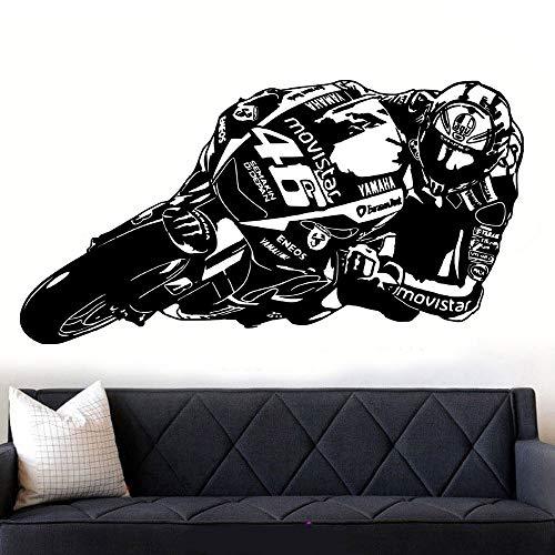 Coole Renngeschwindigkeit Motorrad Sport Spieler Racer Wandaufkleber Vinyl Aufkleber Fahrer Jungen Schlafzimmer Spielzimmer Wohnkultur Zubehör Kunst Wandplakat Poster
