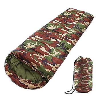 Youyijia Sac de Couchage Waterproof 4 Saisons Camping Randonnée Extérieure Enveloppe Sac Couchage ?Camouflage?