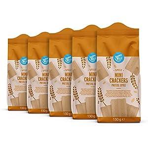 Marca Amazon – Happy Belly – Minipretzels, 5 x 130g