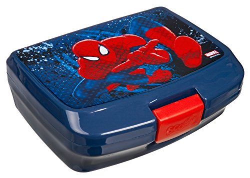 Scooli SPJU9900 Brotzeitdose, Marvel Spider-Man, ca. 13 x 17 x 6 cm