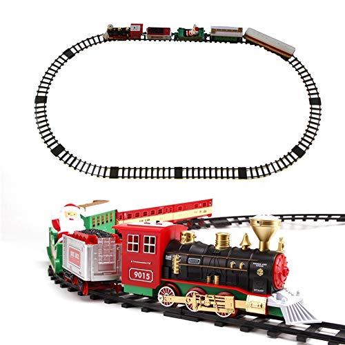 VanFty Navidad del Tren eléctrico de Juguete Establece W/Vapor Locomotora de la...
