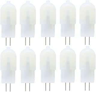 Vlio G4 LED Bulbs, 10 Pack 2W 12 LED 2835SMD Replace 20W Halogen Bulbs, DC/AC 12V, Non-Dimmable Capsule Light Bulbs, 160LM 6000K Cool White, 360 Degree Beam Angle