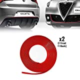 Quattroerre 31863 Profil Antérieur + Postérieur pour Giulietta Voiture avec Le 3M APT Double adhésif, Rouge