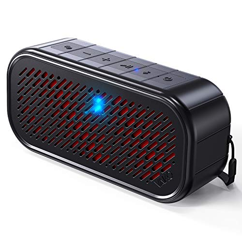 VAKO RockSound Bluetooth Speakers, Rich Bass, Bluetooth 5.0, 100ft Wireless Range, Built in Microphone, IPX5 Waterproof, Tapping Makes Different Sound, Perfect for Indoor & Outdoor