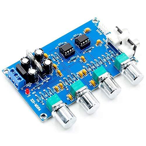 HiLetgo NE5532 Audio Preamp Pre Amplifier Adjustment Plate Double AC12V HIFI Amplifier Preamplifier Volume Tone Control Board High and Low Volume Adjusting Board