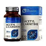 ALCAR Acetyl L Carnitine 700mg [Alta Resistencia], 120 Cápsulas Veganas | Suplementos de Gimnasia y Entrenamiento |Para la Salud del Cerebro y la Función Cognitiva | Aumento de Suplementos