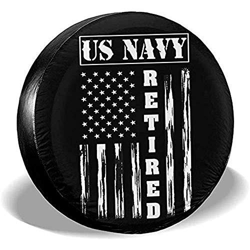 Beth-D US Navy Ersatzreifen-Abdeckung, wasserdicht, passend für Anhänger, Wohnmobil, SUV, LKW, Reiseanhänger, Zubehör 35,6-43,2 cm