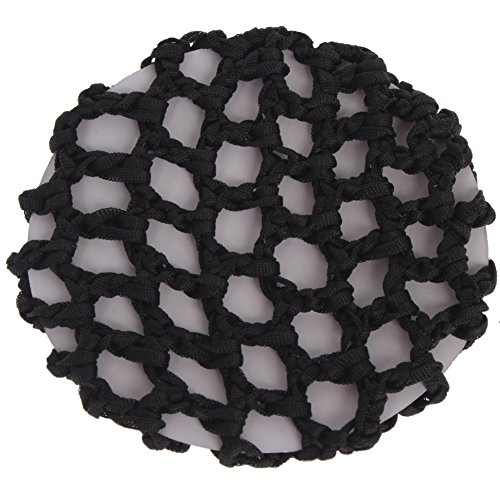 JUSTFOX - Dutt Netz Haarnetz Bun Frisurenhilfe Stoff Knotennetz schwarz