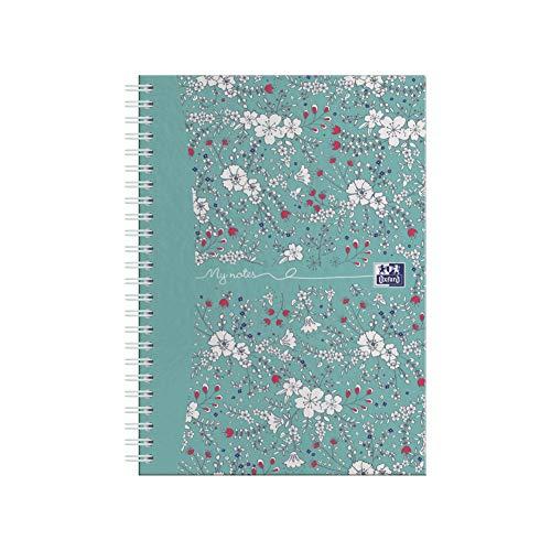 Oxford Floral Notizbuch, A5, Spiralbindung, liniert, 140 Seiten, 1 Notizbuch