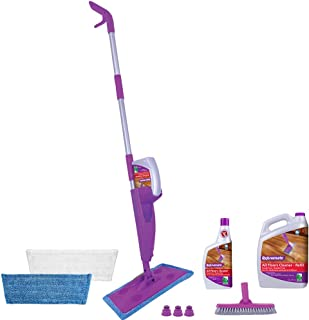Rejuvenate Click N Clean Multi-Surface Spray Mop System Complete Bundle Includes Click-On Grout Brush 2 x R...