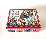 Alice im Wunderland, Alice in Wonderland Exklusive Schatulle,Box, Schachteln, wood, für schmuck,Holzkästchen, Jewelry Box, Kästchen, Handarbeit.