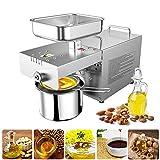 InLoveArts 600W klassische Ölpresse Maschine Edelstahl automatischer Nüsse Samen Öl Extraktor, Heiß- und Kalt Pressen