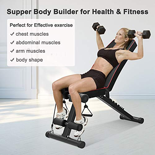YoleoStore-Utility-Weight-Bench-Adjustable-Weight-Benches-for-Full-Body-Workout-Foldable-FlatInclineDecline-FID-Bench-Press-for-Home-Gym-