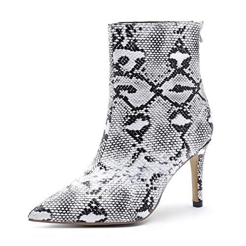 Winter Fashion laarzen, slangenprint dames laarzen, gepersonaliseerde hoge hakken