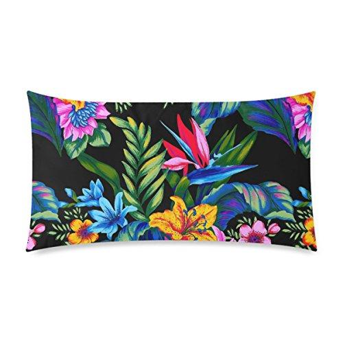 WOWPCASES Jungle Vibe Deisign Funda de almohada de algodón con cremallera, 2 lados, tamaño King de 50,8 x 91,4 cm