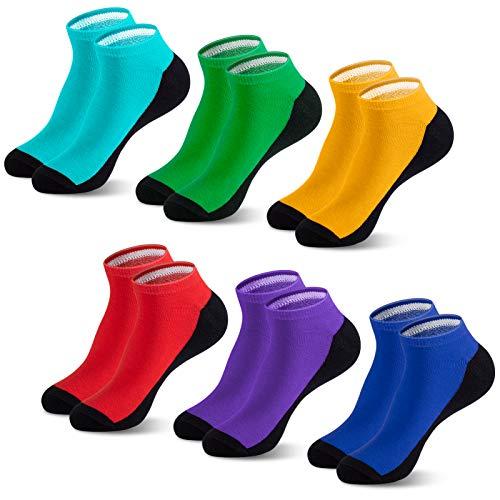 Newdora Socken Herren 37-42, 6 Paar Sportsocken Herren mit Sohle und Knöchel für Freizeit,Outdoor,Business Arbeits