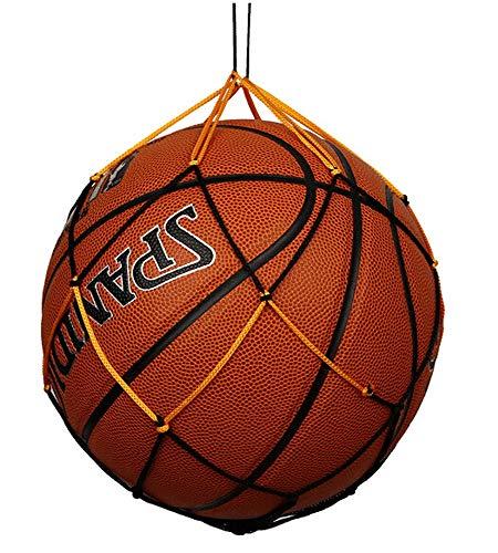 Pelota de Baloncesto Bolsa De Transporte De Pelota De Malla para Voleibol, Baloncesto, Fútbol, fútbol, Juego Multideportivo, Exterior, Duradero, Estándar, Negro Y Amarillo