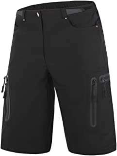 Mous One Men's MTB Breathable Cycling Short Quick Drying Mountain Bike Shorts Half Pants for Outdoor Sports Black