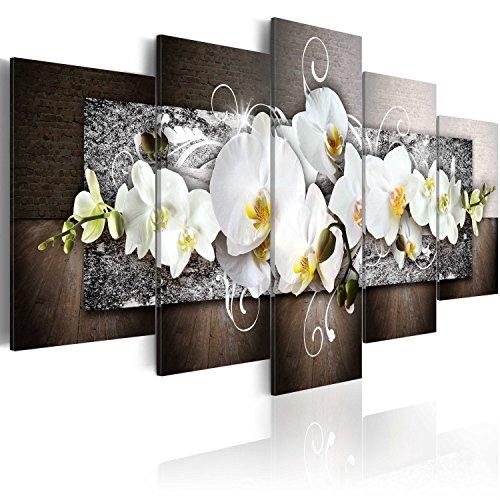 murando Quadro 200x100 cm 5 pezzi Stampa su tela in TNT XXL Immagini moderni Murale Fotografia Grafica Decorazione da parete Fiori Quadro 020110-157
