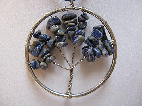 Natural mente – Arbre de Vie, arbre de vie, pendentif, collier, pendentif en pierre Amulette, pierres précieuses, Rock,, Quartz, Lapis, Lapis Lazuli, n ° 5