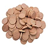 AxeSickle 1 Inch Natural Wood Slices Unfinished Round Wood Coins for Arts & Crafts Projects, Board Game Pieces, Ornaments, 60 per Pack.