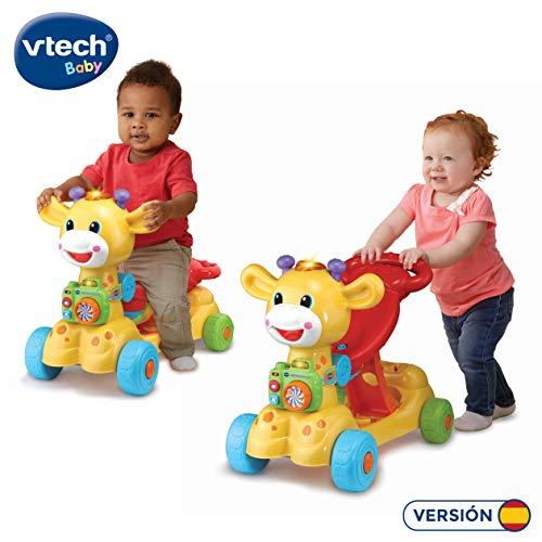 VTech Jirafa Scooter 4 en 1, andador evolutivo con actividades que se...