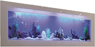 Living Art Pet Supplies Acrylic Wall Mounted Aquarium (LAA_001_2_Multicolor_2 Feet)