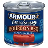 Armour Bourbon BBQ Flavored Sauce Vienna Sausage, 4.6 Ounce -- 24 per case.