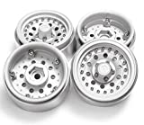 RCLIONS Aluminum Alloy 1.9inch RC Beadlock Wheels Rims for 1/10th Scale RC Crawler