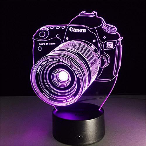 3D nightlight 3D LED Night Light Original Camera Action Figure 7 Colors Touch Optical Illusion Table Lamp Home Decoration ModelTAOTAO
