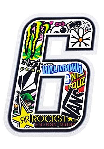 4R Quattroerre.it 13356 Número 6 Sticker Bomb, 10 x 10 cm, Multicolor