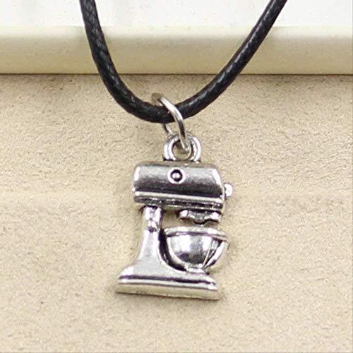 niuziyanfa Co.,ltd Collar Cafetera Colgante Collar Gargantilla Charm Cordón de Cuero Negro Joyas Hechas a Mano