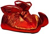 Forum Novelties Women's Deluxe Costume Cloth Elf Shoes, Red, One Size