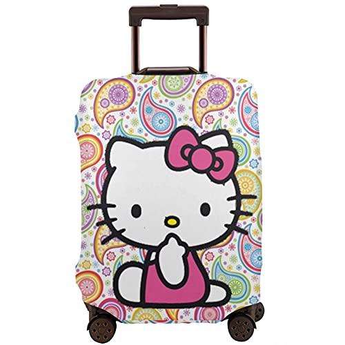 Hello Kitty - Protector de maleta de viaje único, lavable, bonito e interesante reconocimiento elástico, White, M,