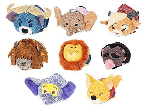 Tsum Tsum Zootopia Movie Stuffed Animal Plush Figure Toy Set of 8 Disney Collectible