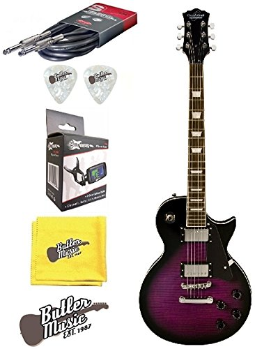 Cheap Oscar Schmidt OE20FTPB Flame Trans PurpleBurst Guitar w/Effin Tuner and More Black Friday & Cyber Monday 2019