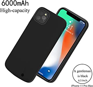 ftimore Compatible with iPhone 11 Pro Max 6.5 Inch Battery Case,6000mAh Extended Battery Pack Charging Power Bank Case Cover for iPhone 11 Pro Max 6.5