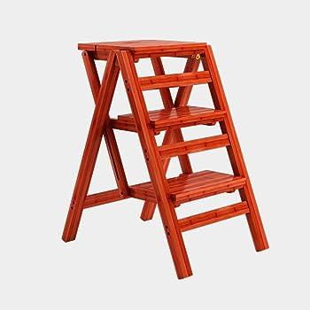 WCS Escalera multifunción Taburete Hogar Madera maciza IKEA Niños Silla plegable Provincia Espacio Escalera de cuatro pasos de doble uso Ascendente Escalera Color 42 × 55 × 68 cm: Amazon.es: Bricolaje y herramientas